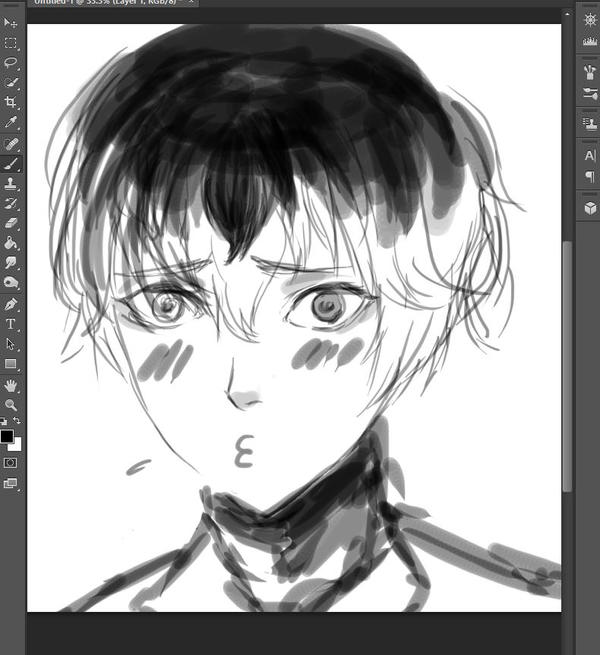 Haise sketch by 0din-Cosplayer