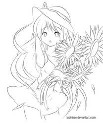 Sunflower Lineart