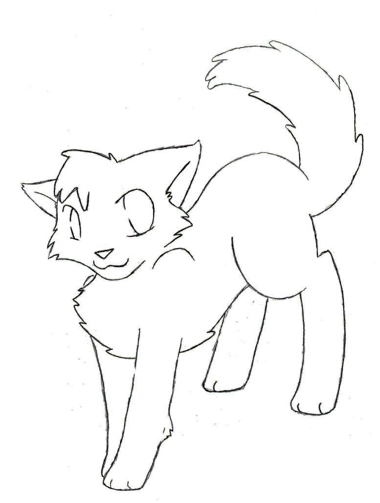 Line Art Of Cat : Cat lineart