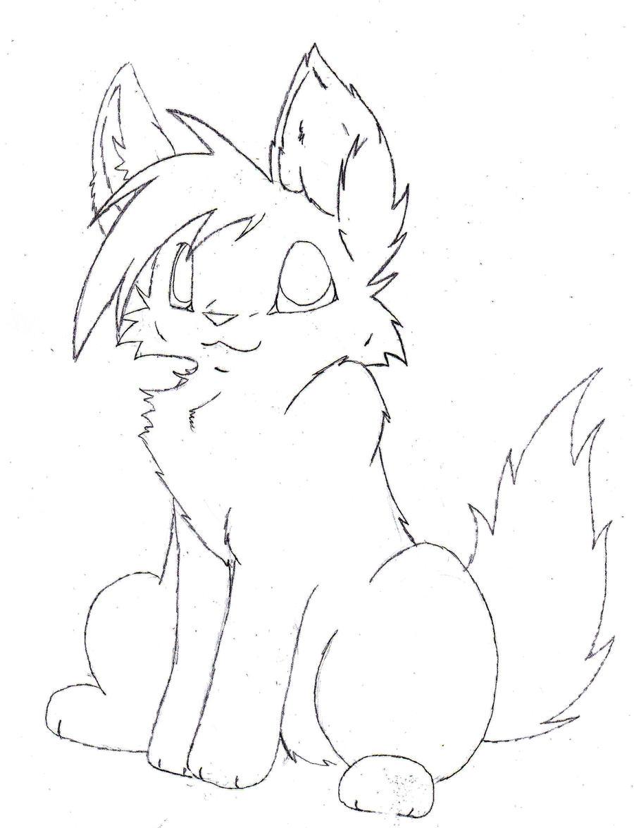Line Art Fox : Free fox lineart by thrushfeather on deviantart