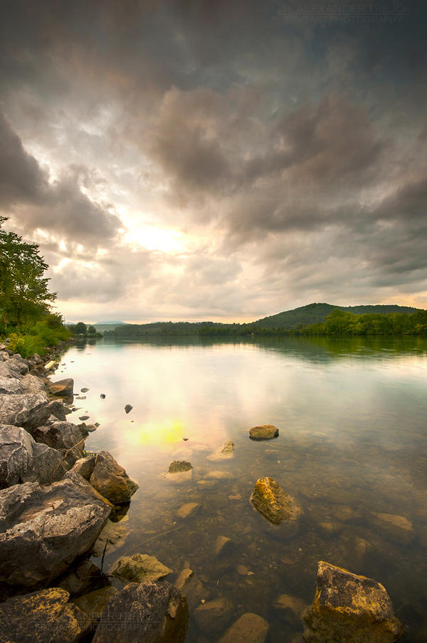 Sunset Lake by Ice-Beam