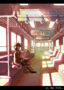 In the train