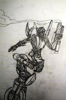 Arcee pencil sketch