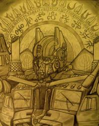 Optimus Prime Portrait (papyrus ver.)
