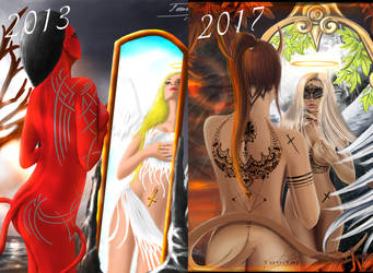 Devil and Angel - 2013 vs 1017 by Tomtaj1