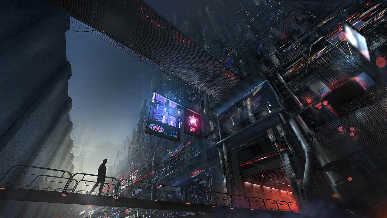 Mechacity - Concept art by megamars