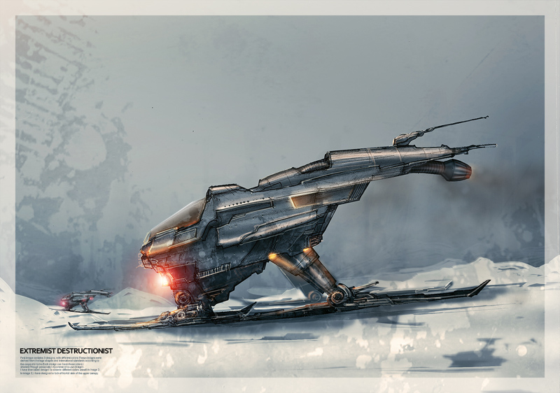 Ice Vehicle design- concept by megamars