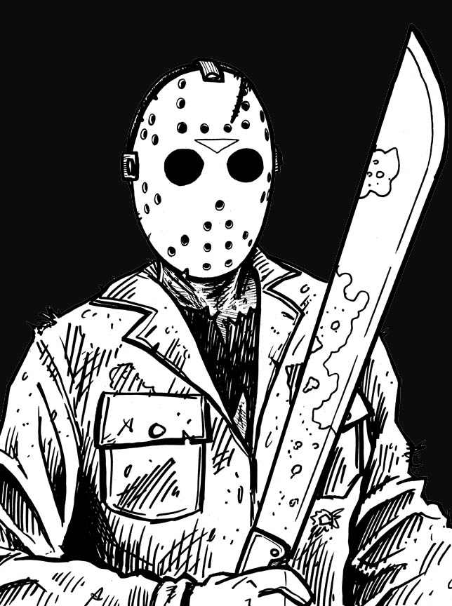 New jason voorhees by phymns on deviantart for Michael myers coloring pages