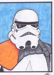 Stormtrooper copic Sketch by phymns
