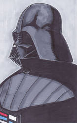 Vader Copic Sketch by phymns