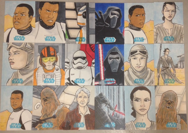 Force Awakens Cards by phymns