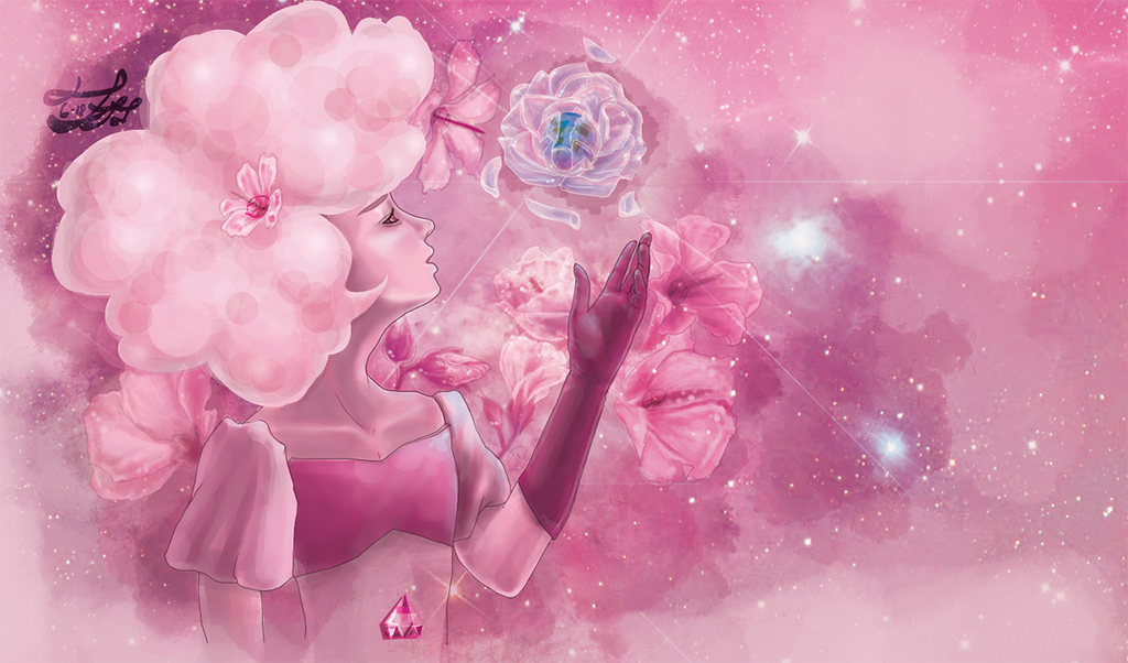 Edited for a SU fanart contest! Please vote if you like Entry to SU Fanart contest here: goo.gl/2bCtVk Pink Diamond from Steven Universe, digital media. I am not releasing the full resolution ...