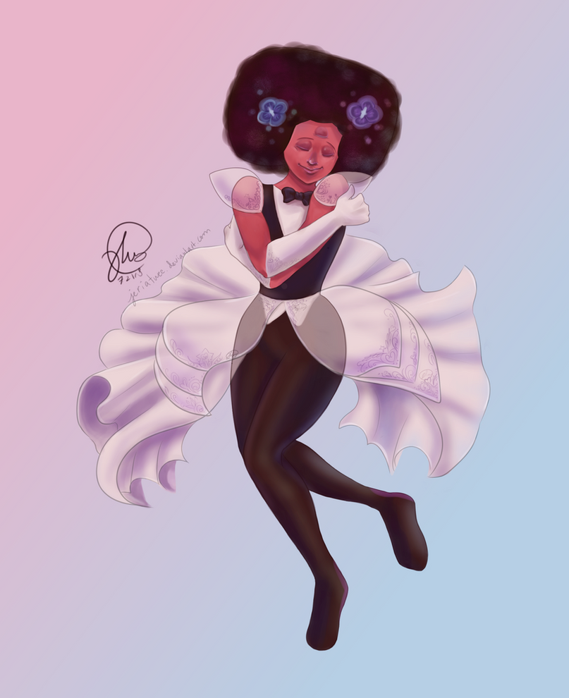 Finally had time to draw Garnet in her wedding suit :> It's the suit of my dreams! She was adorable dancing and hugging herself I loved it <3