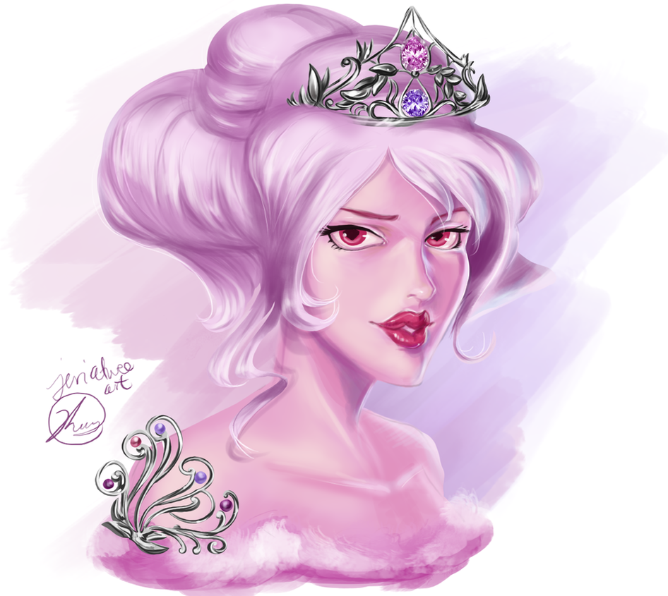 Been practicing skin coloring and added some fun shinies, Pink's practically royalty right? I'm happy with how the skin came out