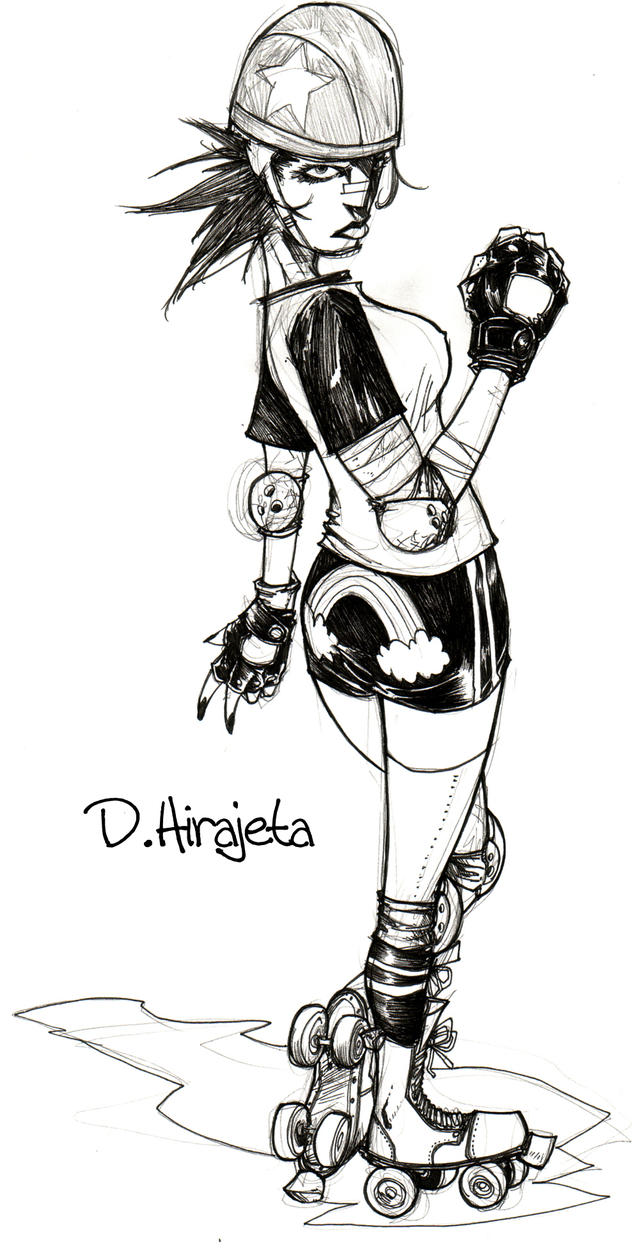 Roller Girl by TheIronClown
