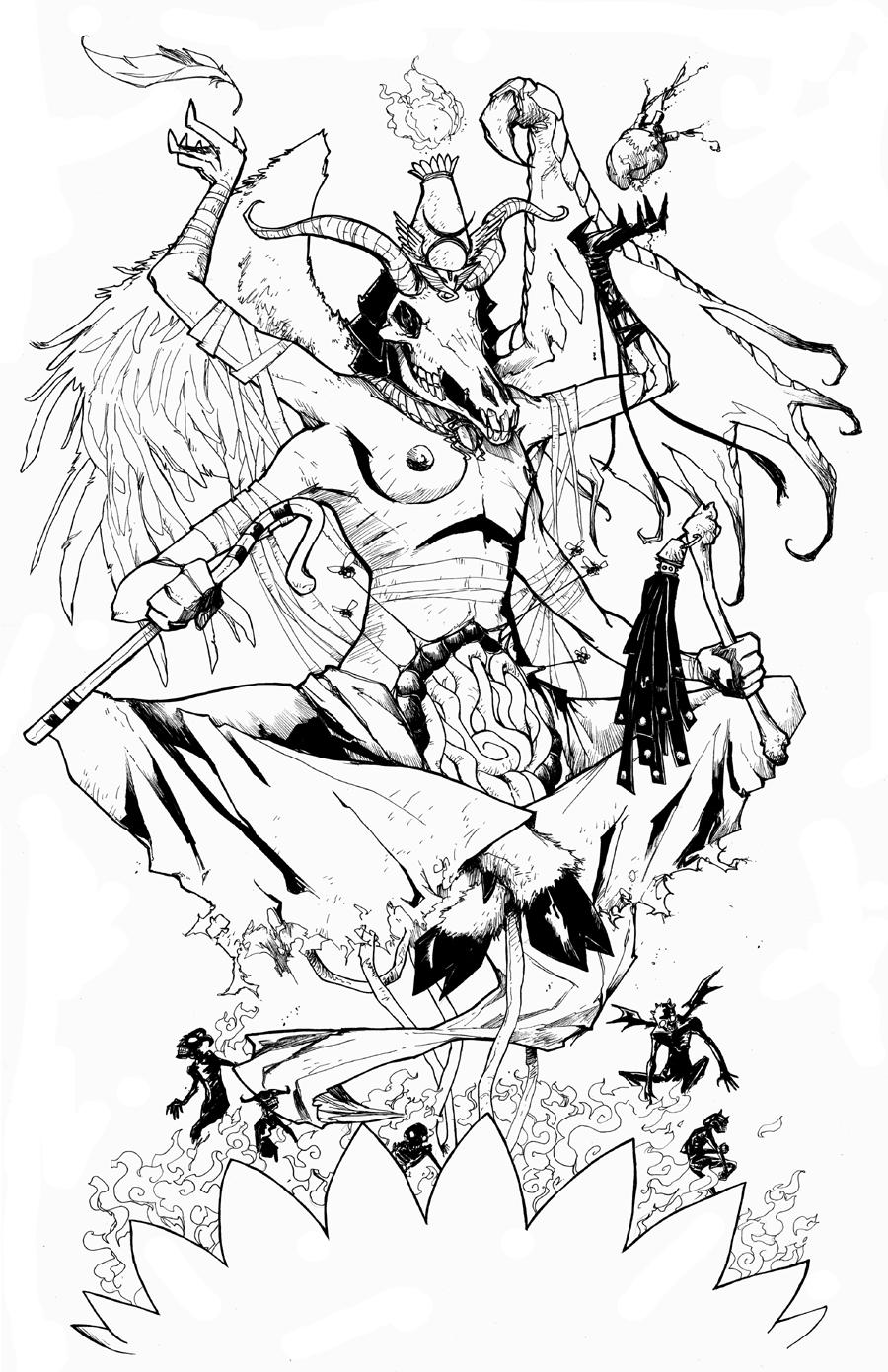Osiris Egyptian God Drawing