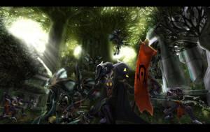 Battle in Felwood by Heavenslight180