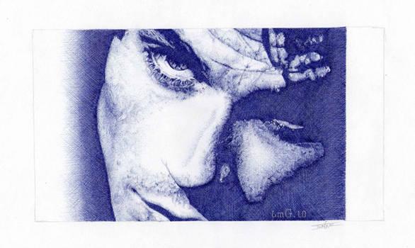 Ian Somerhalder. Blue biro