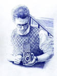 James Franco. Blue biro