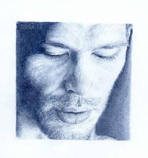 Joseph Morgan. Blue biro