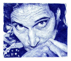 Vincent Gallo. Blue biro by artisticartery
