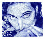 Vincent Gallo. Blue biro