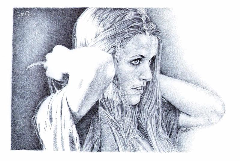 Irene. Biro portrait by artisticartery