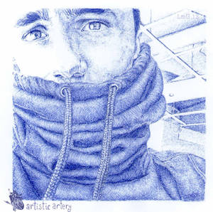 Jake Bass. Blue biro