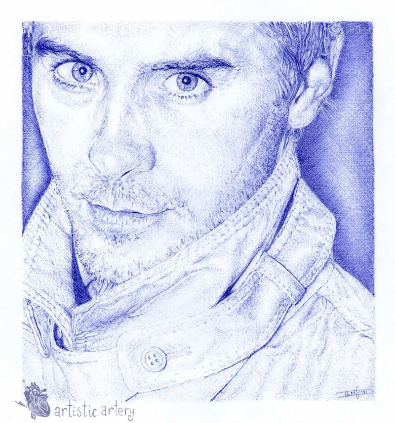 Jared Leto. Ballpoint pen by artisticartery