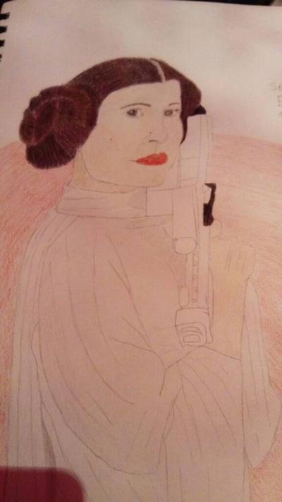 Star Wars: Princess Leia ( WIP)  by LouiseArt2016