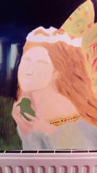 Pre - Raphaelite portrait WIP  by LouiseArt2016
