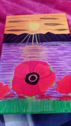 Remembrance of Poppy  by LouiseArt2016