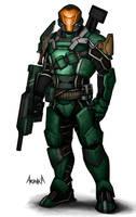 Sci-fi Soldier by Bakabakero