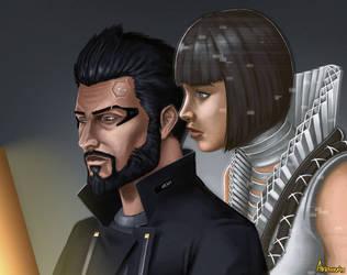 Deus Ex - Mankind Divided Fanart by Bakabakero