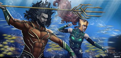 Aquaman Fanart by Bakabakero