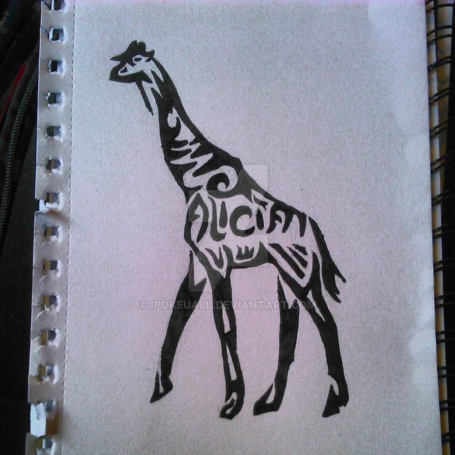 Tribal Giraffe By Ipokeuall ...