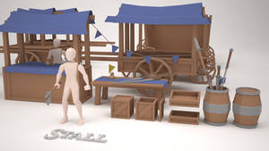 Low Poly Assets - Stall 2