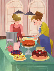 make a cake by bacon284