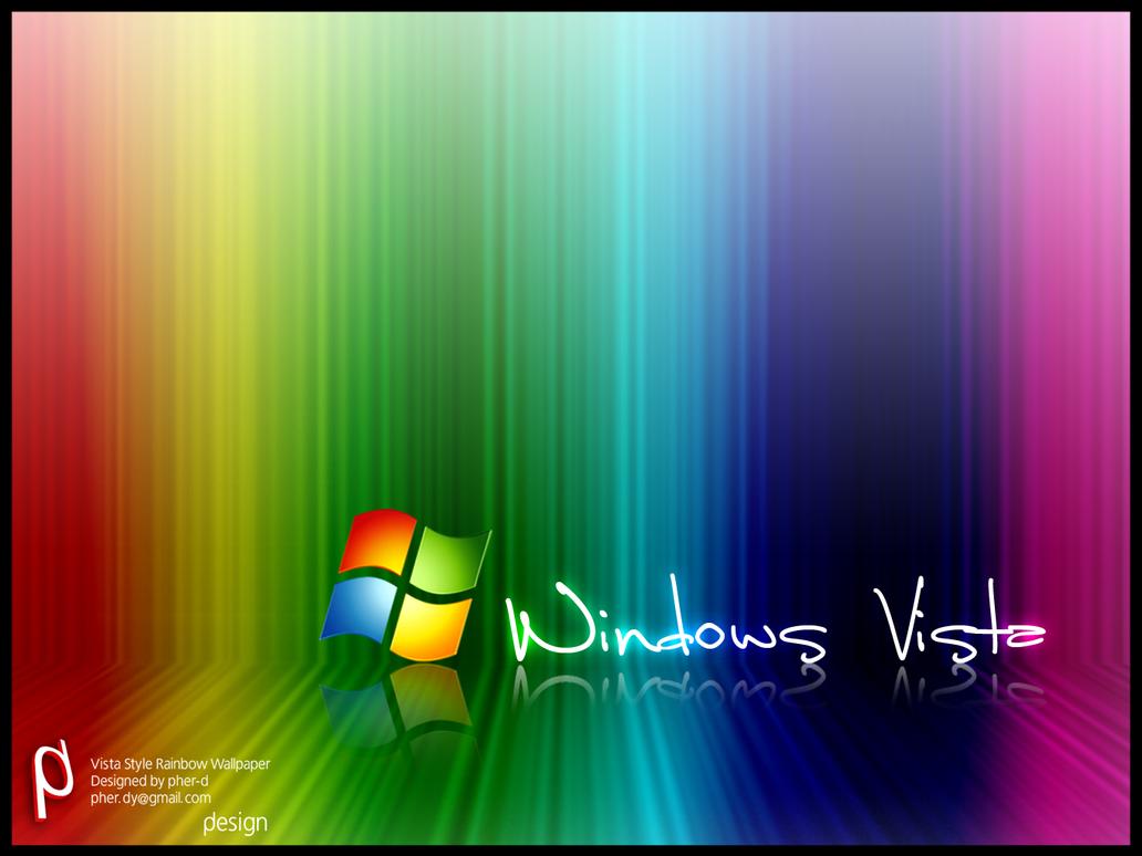 Vista Style Rainbow wallpaper