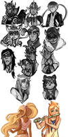 SOA Paint Sketches by Pinkablu