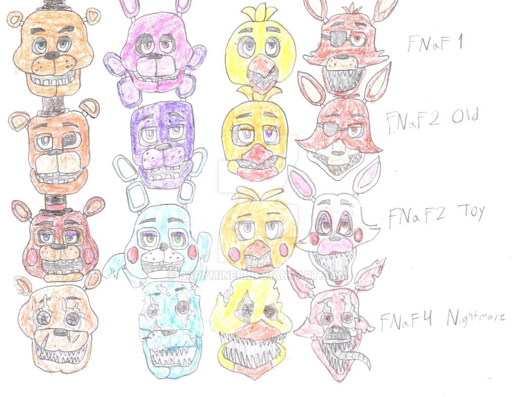 Fnaf Characters MEME by BaryMiner