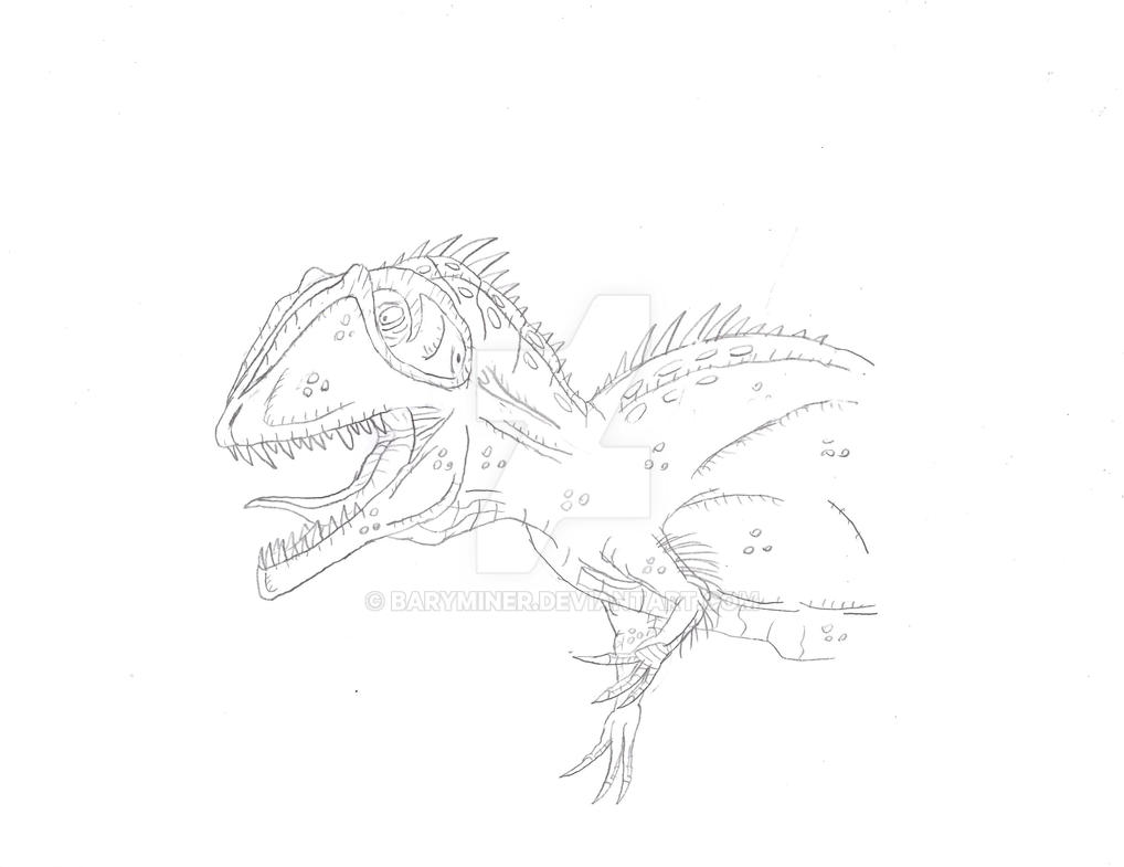 Carcharodontosaurus Sketch (PLUS SKETCHBOOK IDEA) by BaryMiner