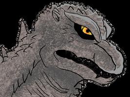 Godzilla W/ Tablet by BaryMiner
