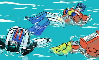 Floating in the Deep by merkitten