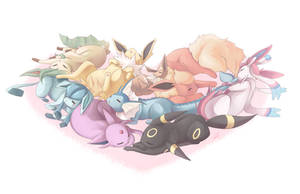Eeveelutions 2014 by ttururu