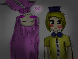 Golden Freddy x  Mangle (Human) by New-ToyChica