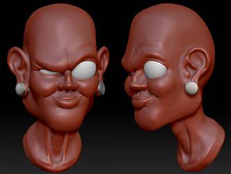 head sculpt by zbush