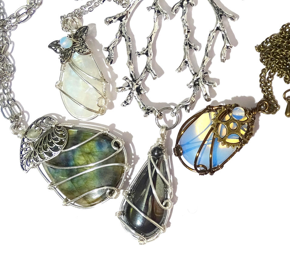 Some necklaces back in stock by Magic-Jewels