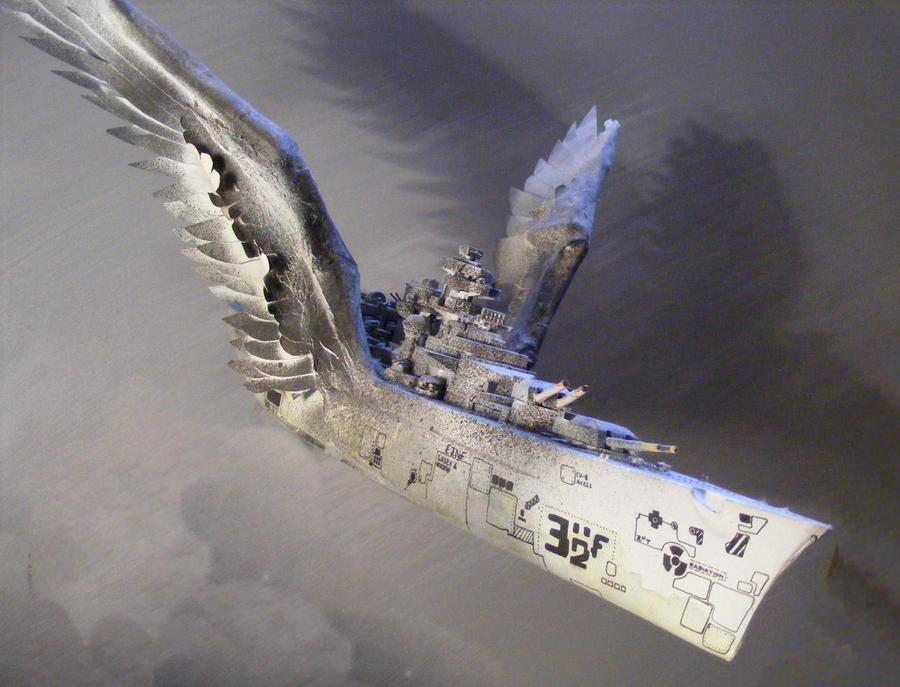 Fantasy Battleship by Krystalvoyager