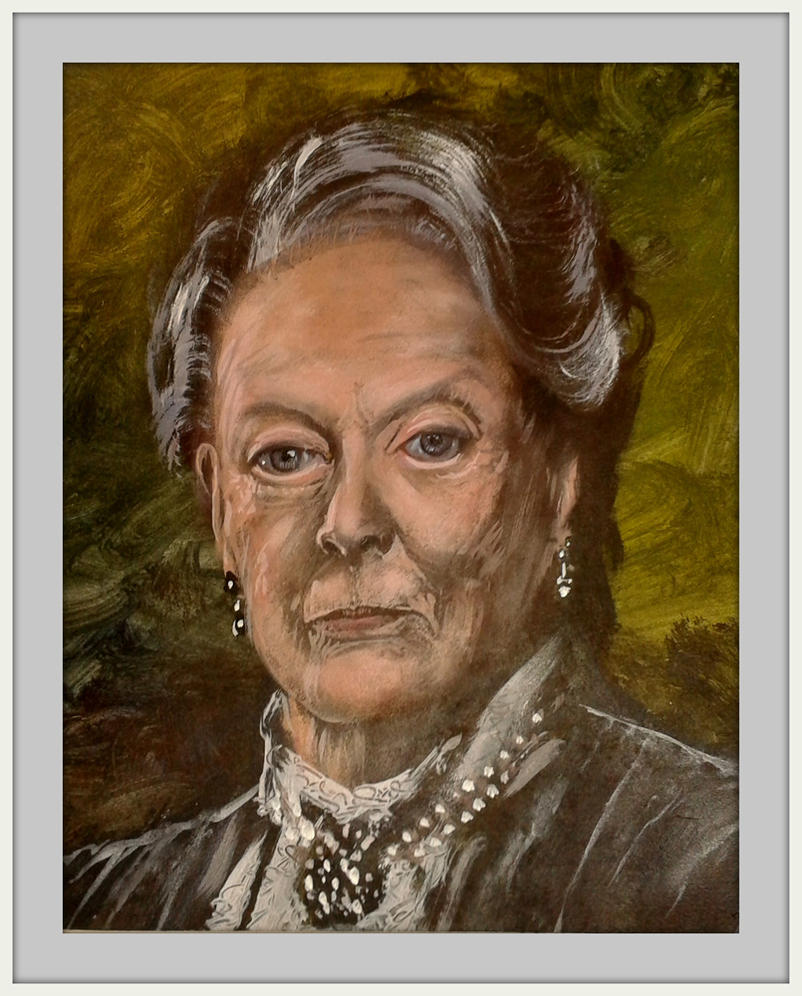 Dame Maggie Smith portrait by Krystalvoyager